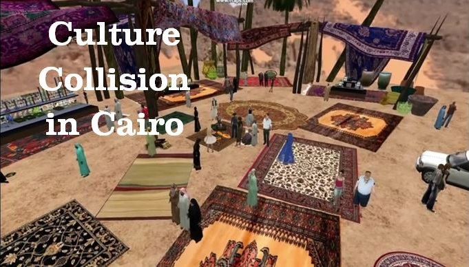 Sample picture from Culture Collision in Cairo video on YouTube, please click to open the link