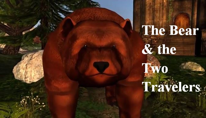 Teaser Image for The Bear and the Two Travelers video on YouTube, please click to follow the link
